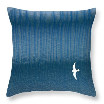 Icy Angel Throw Pillow by Tony Beck