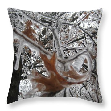 Icy Beckoning Throw Pillow