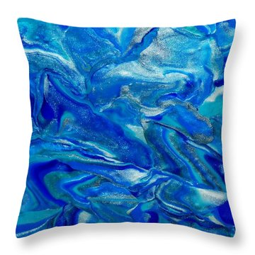 Icy Blue Throw Pillow