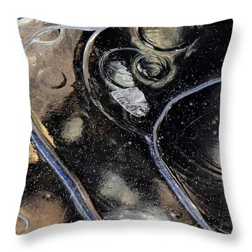 Icy Bubbles Throw Pillow