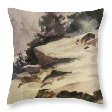 Icy Crest Throw Pillow