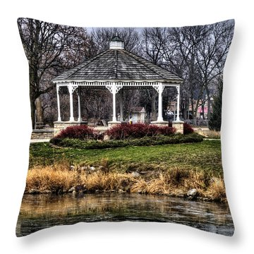 Throw Pillow featuring the photograph Icy Reflection by Deborah Klubertanz