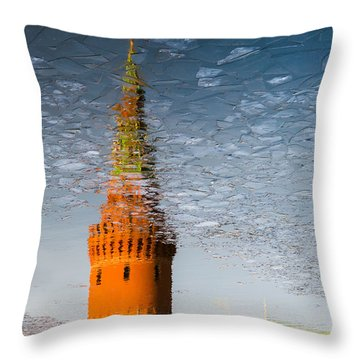 Icy Skies - Featured 3 Throw Pillow by Alexander Senin