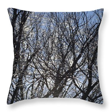 Icy Trees  Throw Pillow by Luther   Fine Art