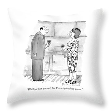 I'd Like To Help Throw Pillow