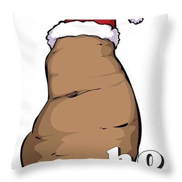 Idaho Christmas Throw Pillow by Whitney Morton