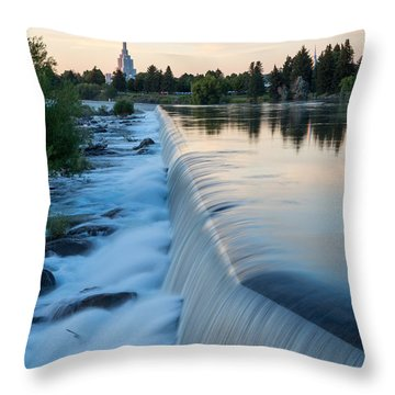 Idaho Falls Sunset Throw Pillow
