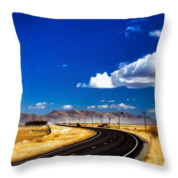 Idaho Road Titl Shift Throw Pillow by For Ninety One Days