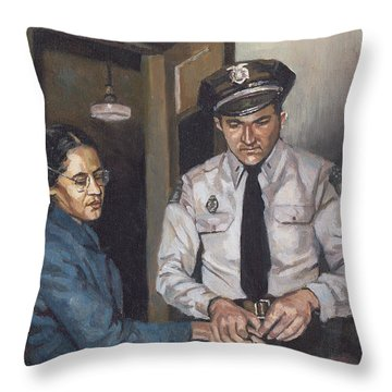 Identification Rosa Throw Pillow by Colin Bootman