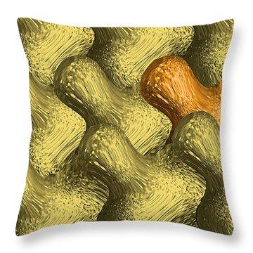 Idiosync Redux 'carmel' Throw Pillow