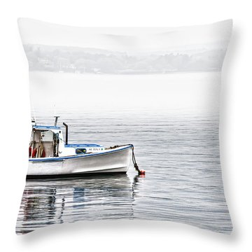 Throw Pillow featuring the photograph Idle Mooring by Richard Bean