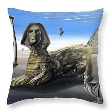 Throw Pillow featuring the painting Idolatary Conformity by Ryan Demaree