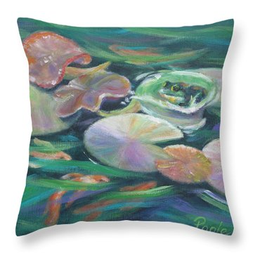 Idyllic Lilypads Throw Pillow