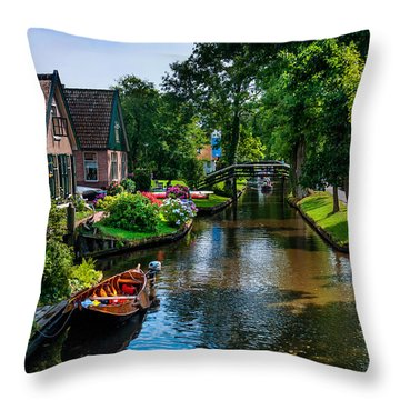 Idyllic Village 15. Venice Of The North Throw Pillow