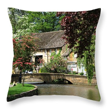 Idyllic Village Scene Throw Pillow