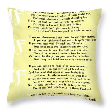 Fairy Poem Throw Pillows