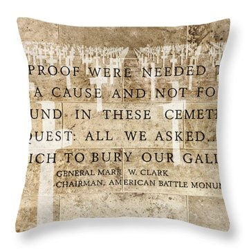 If Ever Proof Were Needed Throw Pillow