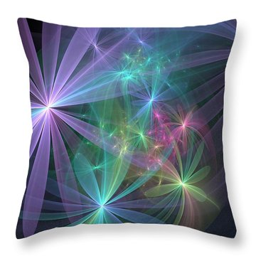If Flowers Had Wings... Throw Pillow