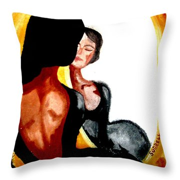 Throw Pillow featuring the painting If Only by Amy Sorrell
