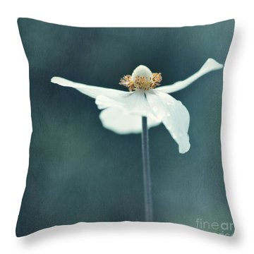If  Petals Were Wings Throw Pillow by Priska Wettstein