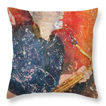 If Rich Played Sax Throw Pillow