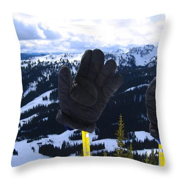 If The Glove Fits Throw Pillow by Kym Backland