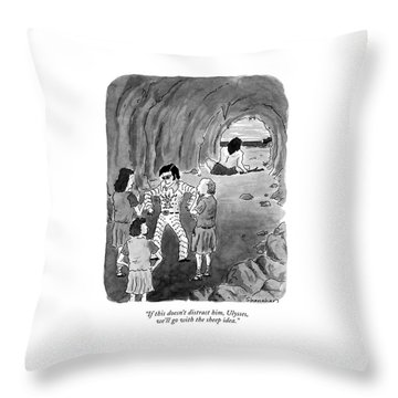 If This Doesn't Distract Throw Pillow by Danny Shanahan