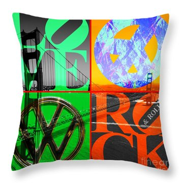Throw Pillow featuring the photograph If You Are Going To San Francisco Be Sure To Wear Flowers In Your Hair 20140665 Square by Wingsdomain Art and Photography