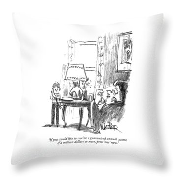If You Would Like To Receive A Guaranteed Annual Throw Pillow