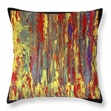 Throw Pillow featuring the painting If...then by Michael Cross