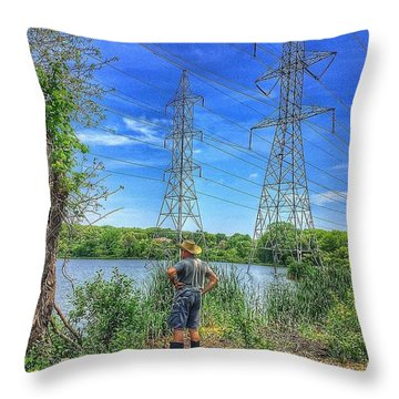 Just Hanging Out.  Throw Pillow