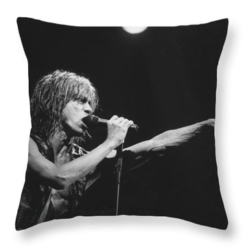 Iggy Pop Live At The Fillmore Throw Pillow