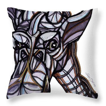 iGiraffe Throw Pillow by Del Gaizo