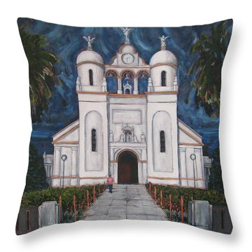 Iglesia Curridabat  Costa Rica Throw Pillow