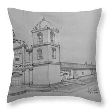 Iglesia De Moruy Throw Pillow
