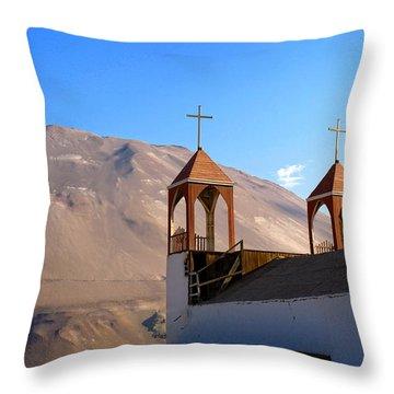 Iglesia De San Geronimo Poconchile Chile Throw Pillow by Kurt Van Wagner