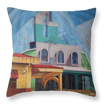 Iglesia San Rafael  Costa Rica Throw Pillow
