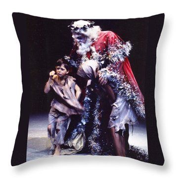 Christmas Carol Throw Pillow
