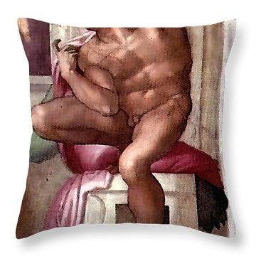 Ignudo Number Eight Of 1511 Throw Pillow