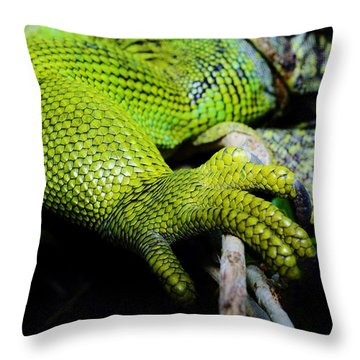 Iguana Details Throw Pillow