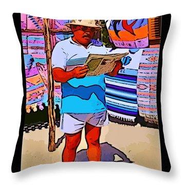 Iguana Man The Poster Throw Pillow by John Malone