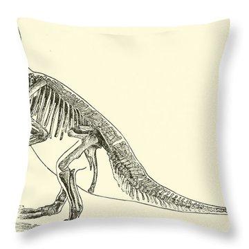 Iguanodon Throw Pillow