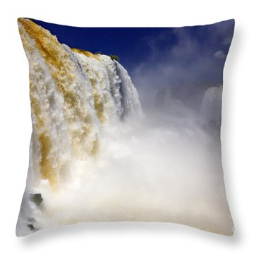 Iguazu Falls I Throw Pillow by Bernardo Galmarini