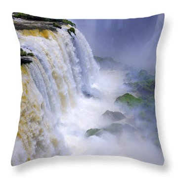 Iguazu Falls IIi Throw Pillow by Bernardo Galmarini