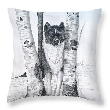 Ihasa In The Woods Throw Pillow by Joette Snyder