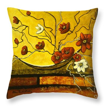Ikebana II Throw Pillow