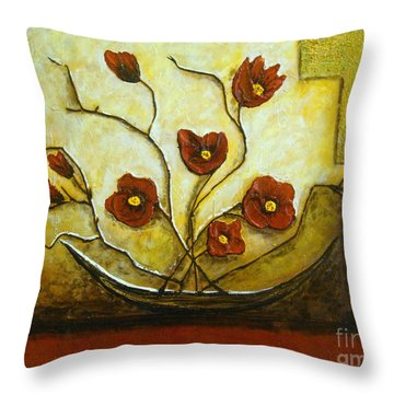 Ikebana Iv Throw Pillow