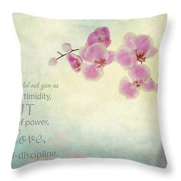 Ikebana With Message Throw Pillow