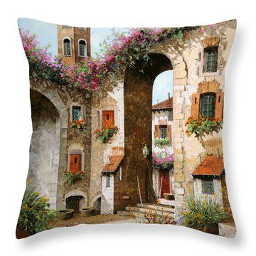 Il Campanile Throw Pillow
