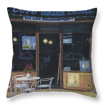 Il Covo Della Costa Throw Pillow by Guido Borelli